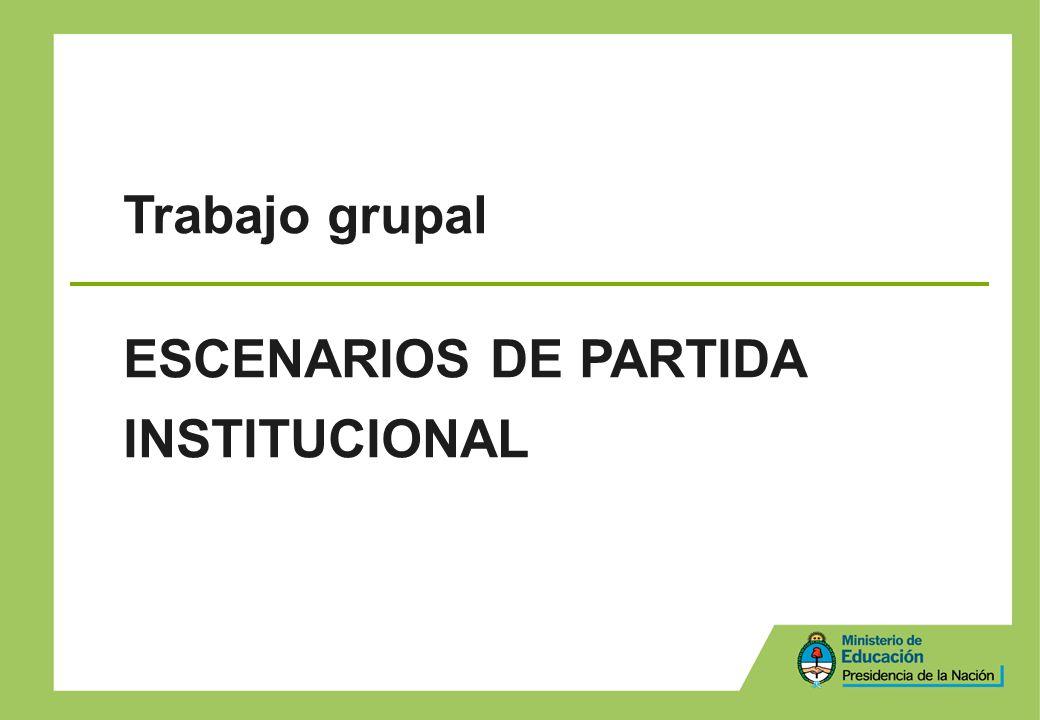 Trabajo grupal ESCENARIOS DE PARTIDA INSTITUCIONAL