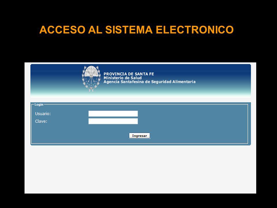 ACCESO AL SISTEMA ELECTRONICO