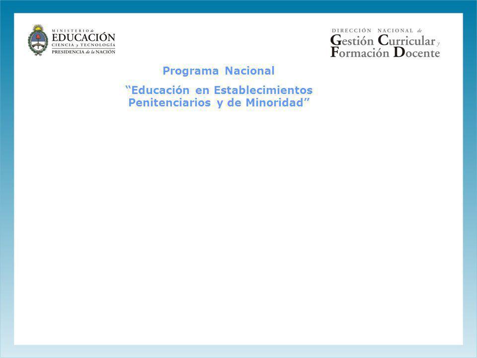 Programa Nacional Educación en Establecimientos Penitenciarios y de Minoridad