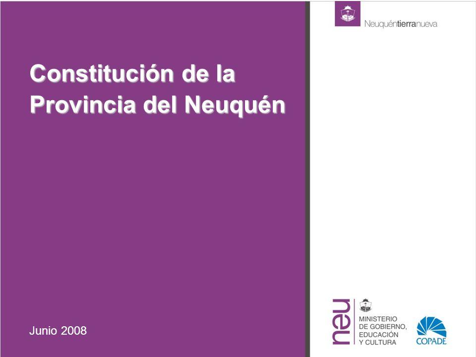 Constitución de la Provincia del Neuquén Junio 2008