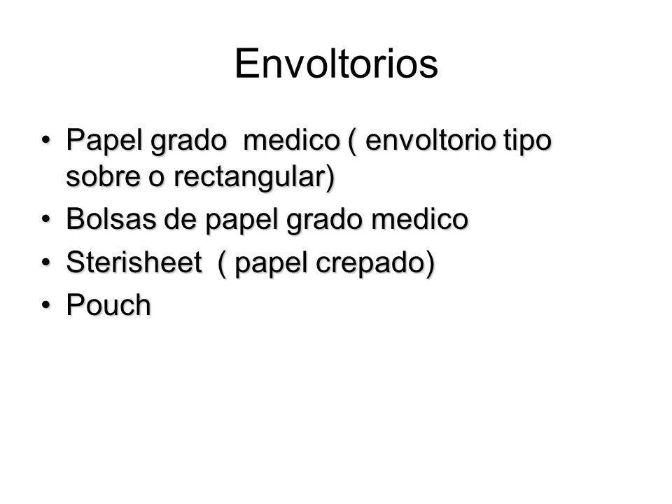 Envoltorios Papel grado medico ( envoltorio tipo sobre o rectangular)Papel grado medico ( envoltorio tipo sobre o rectangular) Bolsas de papel grado m