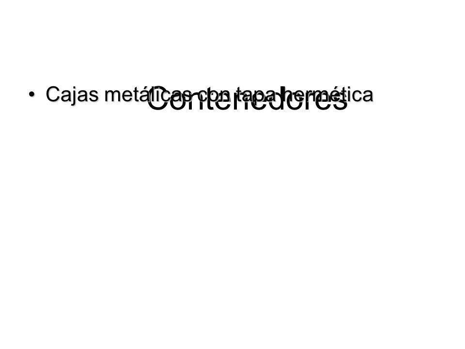 Contenedores Cajas metálicas con tapa herméticaCajas metálicas con tapa hermética