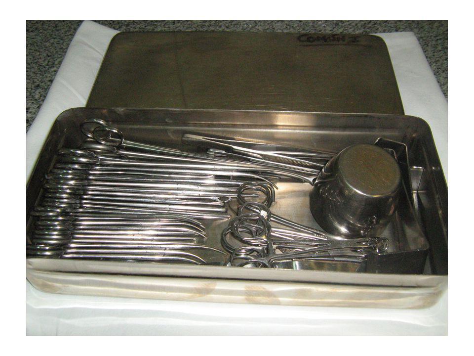 Elementos que pueden incorporarse a las cajas de instrumental MetalMetal Aluminio (potes pirex y papel de aluminio)Aluminio (potes pirex y papel de aluminio) Vidrio (frascos jeringas pirex)Vidrio (frascos jeringas pirex)