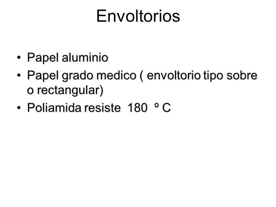 Envoltorios Papel aluminioPapel aluminio Papel grado medico ( envoltorio tipo sobre o rectangular)Papel grado medico ( envoltorio tipo sobre o rectang