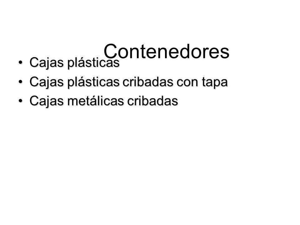 Contenedores Cajas plásticasCajas plásticas Cajas plásticas cribadas con tapaCajas plásticas cribadas con tapa Cajas metálicas cribadasCajas metálicas