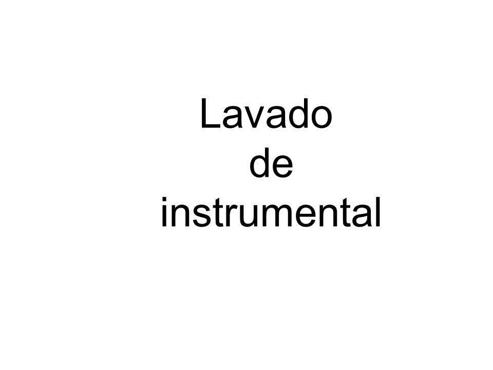 Lavado de instrumental