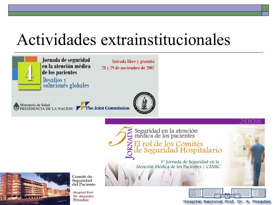Actividades extrainstitucionales