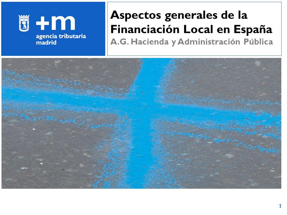 1 Aspectos generales de la Financiación Local en España A.G. Hacienda y Administración Pública