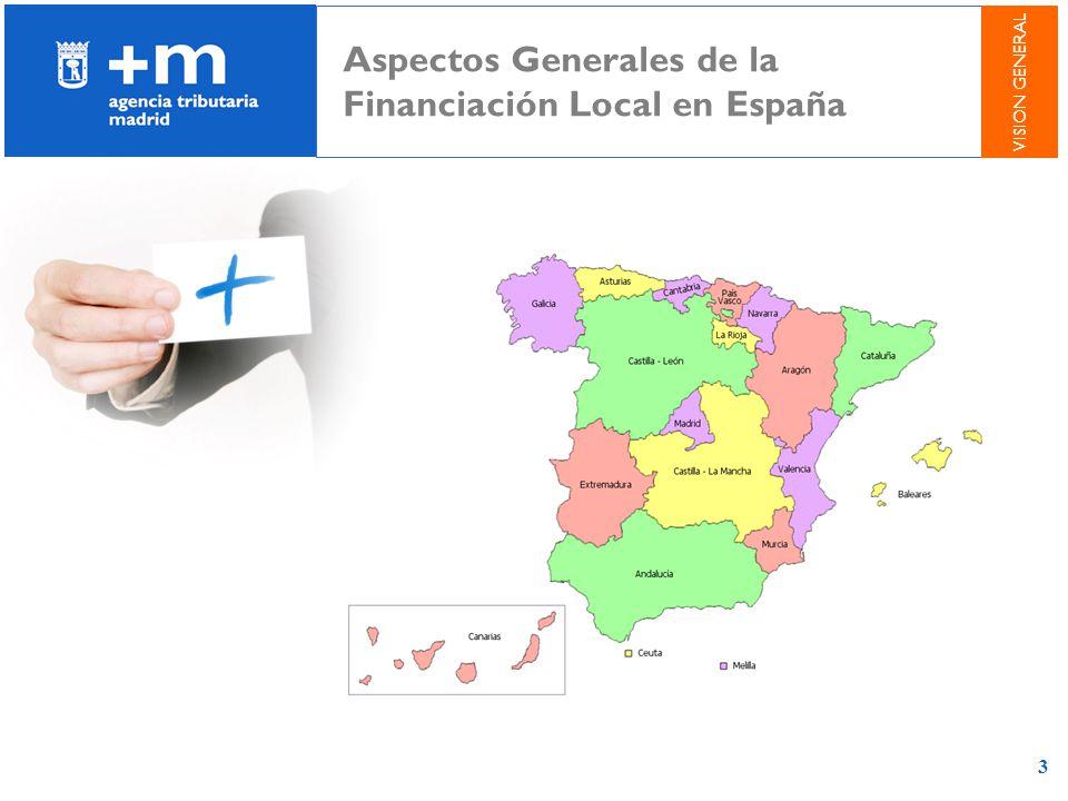 3 Aspectos Generales de la Financiación Local en España VISION GENERAL