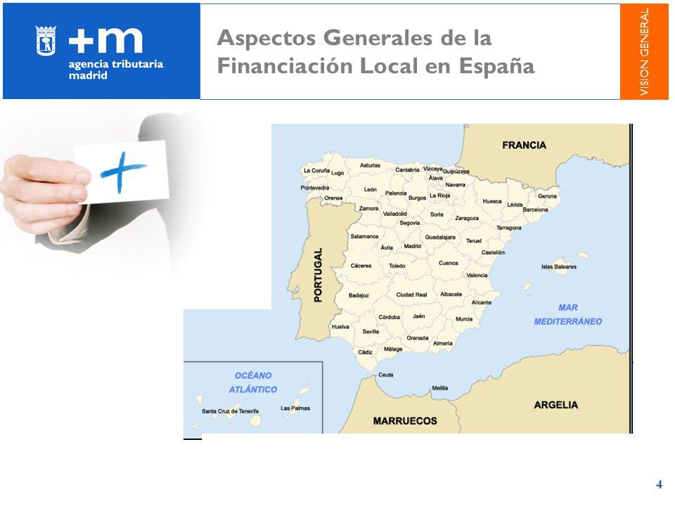 4 Aspectos Generales de la Financiación Local en España VISION GENERAL