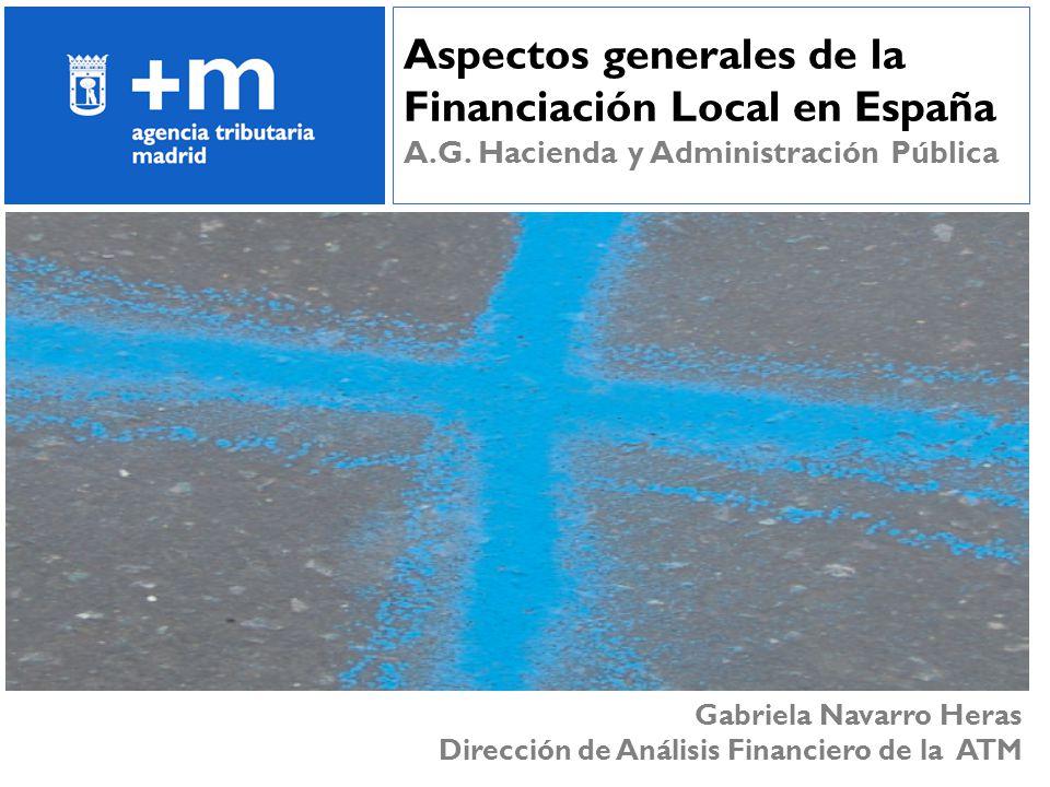 51 Aspectos generales de la Financiación Local en España A.G. Hacienda y Administración Pública Gabriela Navarro Heras Dirección de Análisis Financier