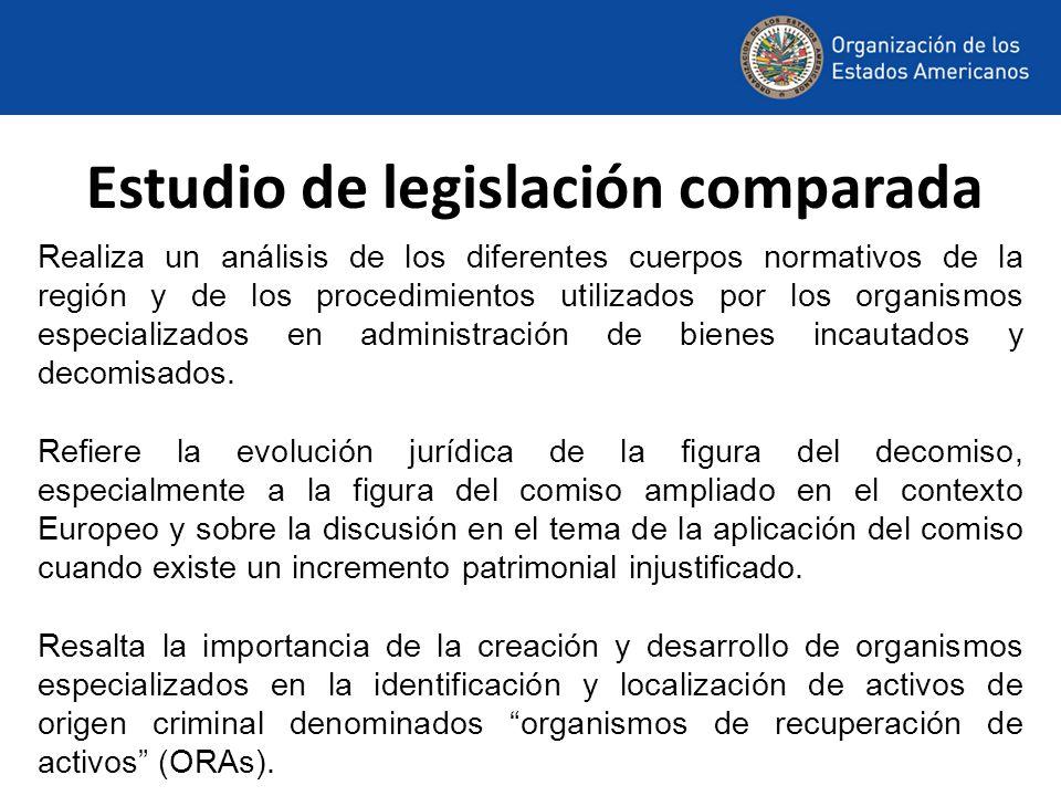Modificación Reglamento Modelo El Proyecto BIDAL se apoya del Grupo de Expertos contra el Lavado de Activos, a través de su Subgrupo de Decomiso en el análisis y desarrollo de temas de importancia para la región, en la cual se destaca la modificación del artículo 7 del Reglamento Modelo de la CICAD/OEA, referente al decomiso de bienes abandonados o no reclamados en el proceso, aprobada por la Asamblea General de la OEA.