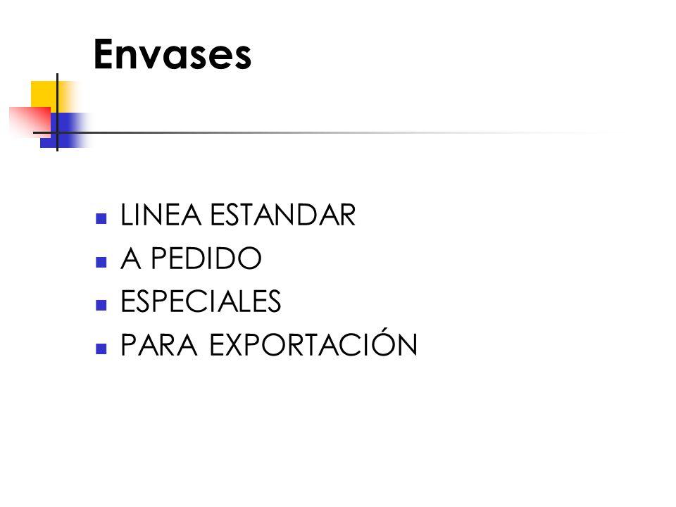 Envases LINEA ESTANDAR A PEDIDO ESPECIALES PARA EXPORTACIÓN