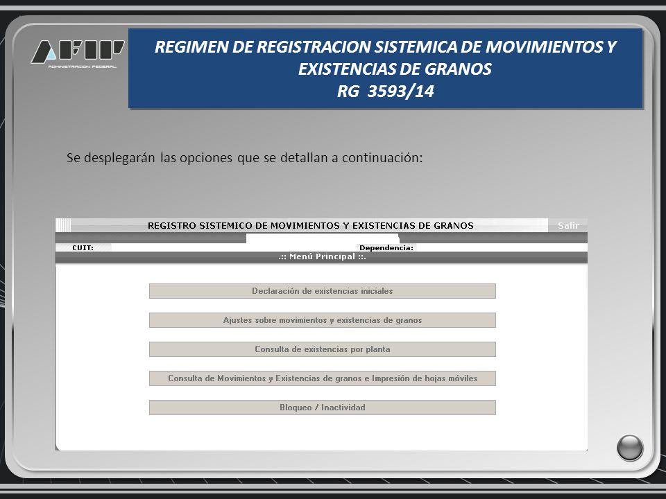 De resultar válida la CUIT indicada y encontrarse incluida en alguna de las actividades comprendidas en el Art. 2 de la RG 3593 se mostrará el usuario