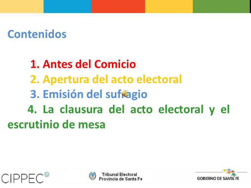4.Facilitar al elector una nómina de todas las listas de candidatos en alfabeto Braille.