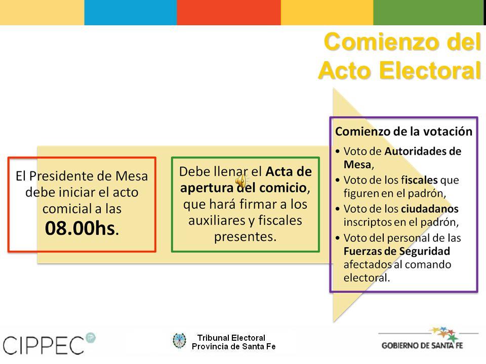 Comienzo del Acto Electoral