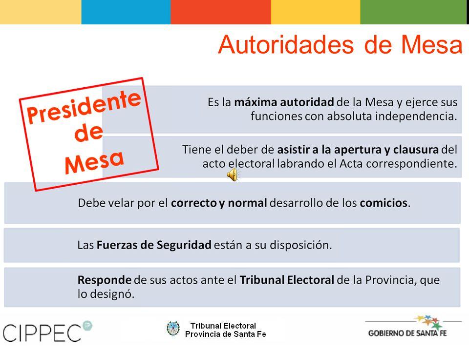 Emisión del Sufragio Los ciudadanos que figuren en el padrón tachados con una línea roja por el Tribunal Electoral.