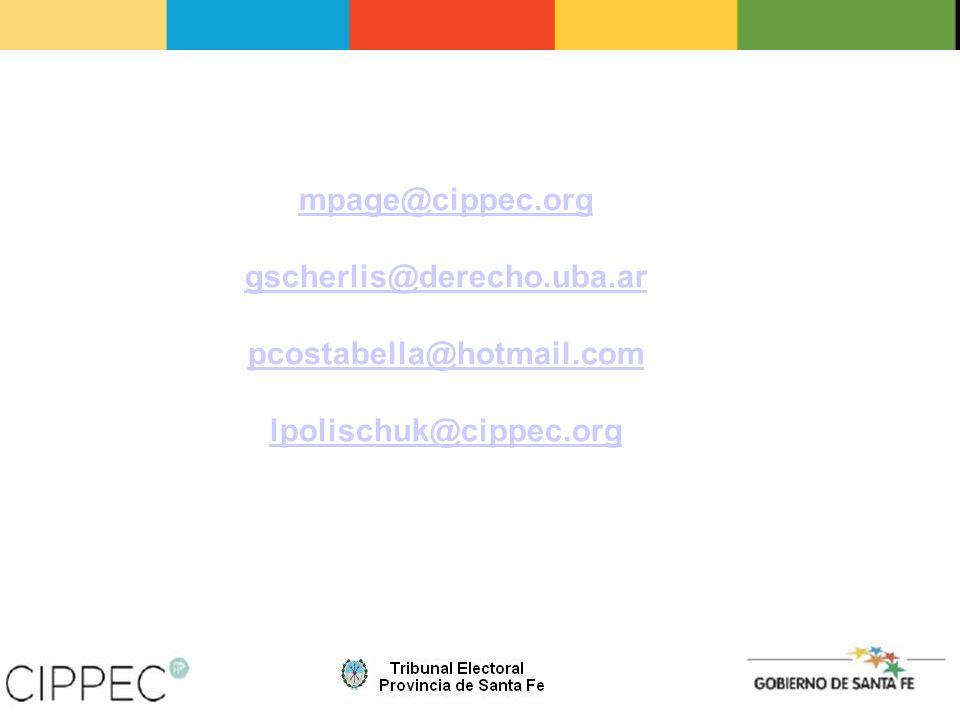 mpage@cippec.org gscherlis@derecho.uba.ar pcostabella@hotmail.com lpolischuk@cippec.org