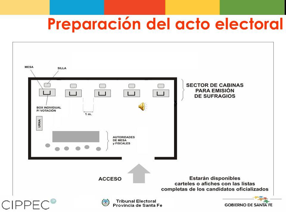 Clausura del acto electoral A las 18:00 horas en punto el Presidente debe ordenar que se clausure el acceso al Local Electoral, pero continuará recibiendo el voto de los electores presentes que aguardaban su turno en la fila.