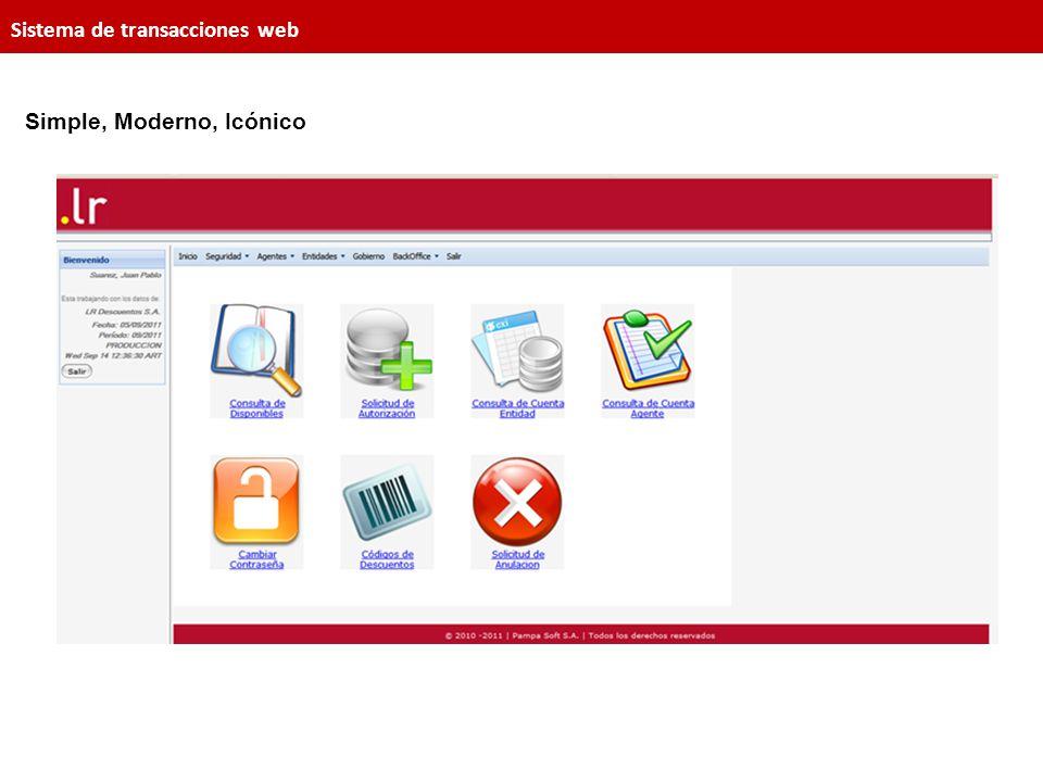 Sistema de transacciones web Simple, Moderno, Icónico