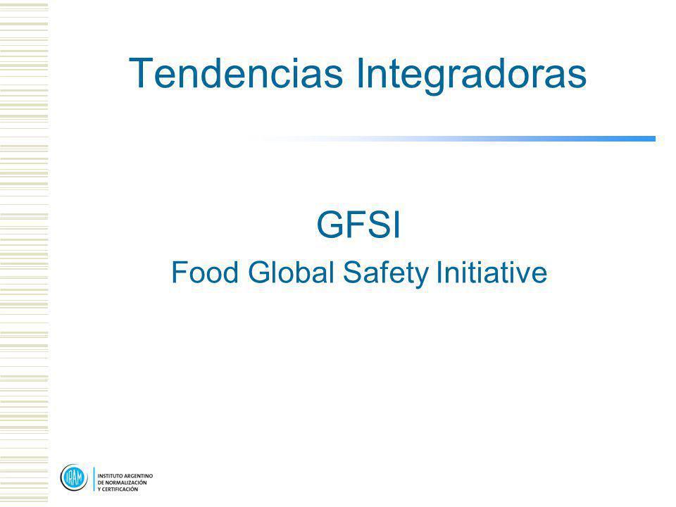 Tendencias Integradoras GFSI Food Global Safety Initiative