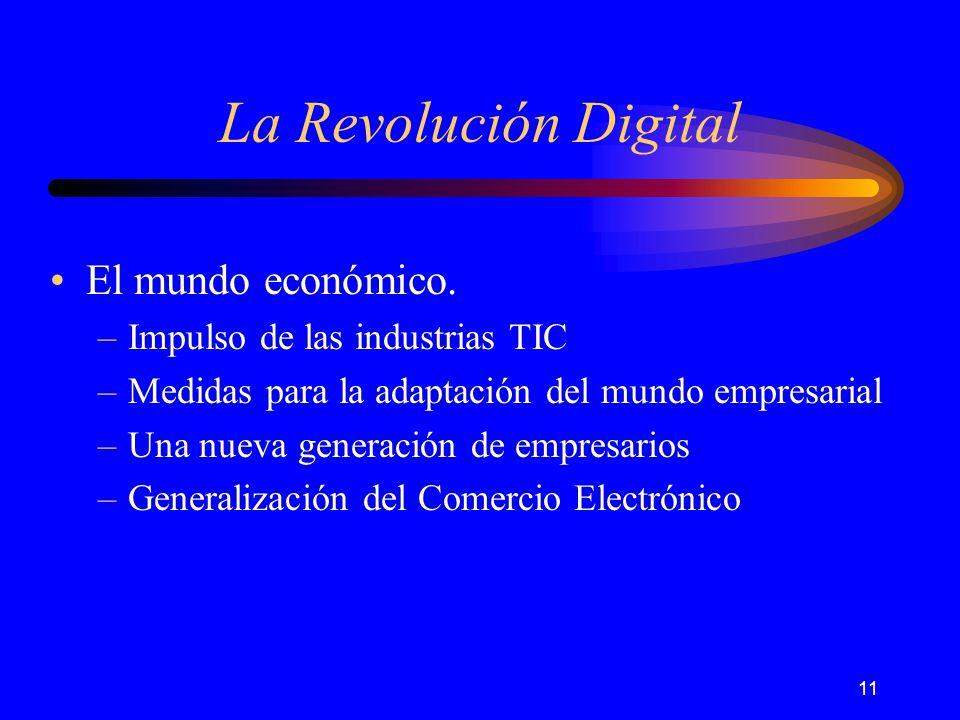 11 La Revolución Digital El mundo económico.