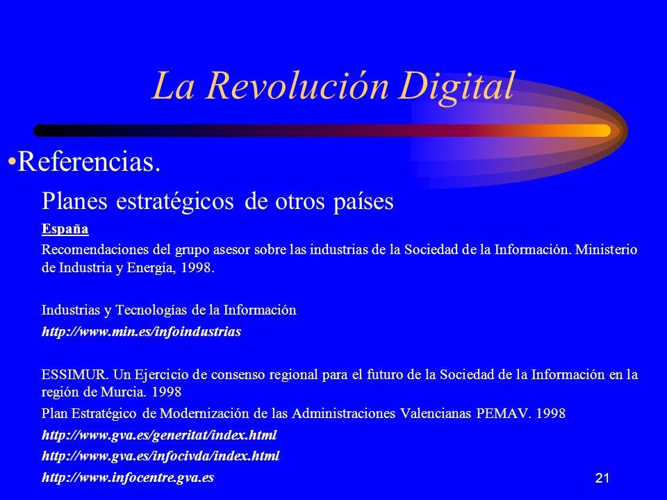 21 La Revolución Digital Referencias.