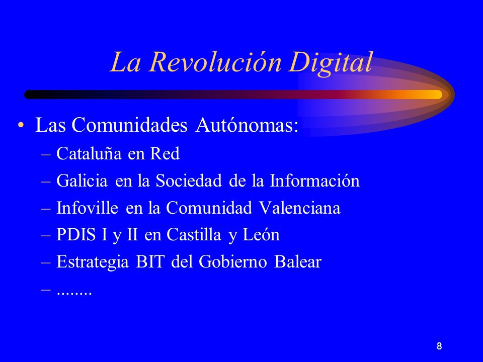 29 La Revolución Digital Norte de Inglaterra North of Englands Regional Information Society Iniciative.