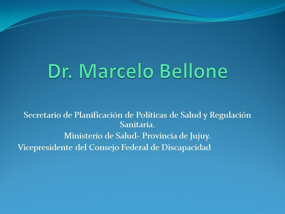 Secretario de Planificación de Políticas de Salud y Regulación Sanitaria. Ministerio de Salud- Provincia de Jujuy. Vicepresidente del Consejo Federal