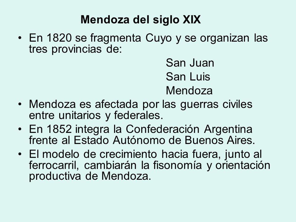 Mendoza y la Independencia Mendoza recibe en junio la noticia de la Revolución de Mayo en Buenos Aires. El Cabildo y el Jefe de Campaña mantendrán pos
