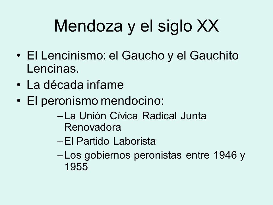 Mendoza del siglo XIX En 1820 se fragmenta Cuyo y se organizan las tres provincias de: San Juan San Luis Mendoza Mendoza es afectada por las guerras c