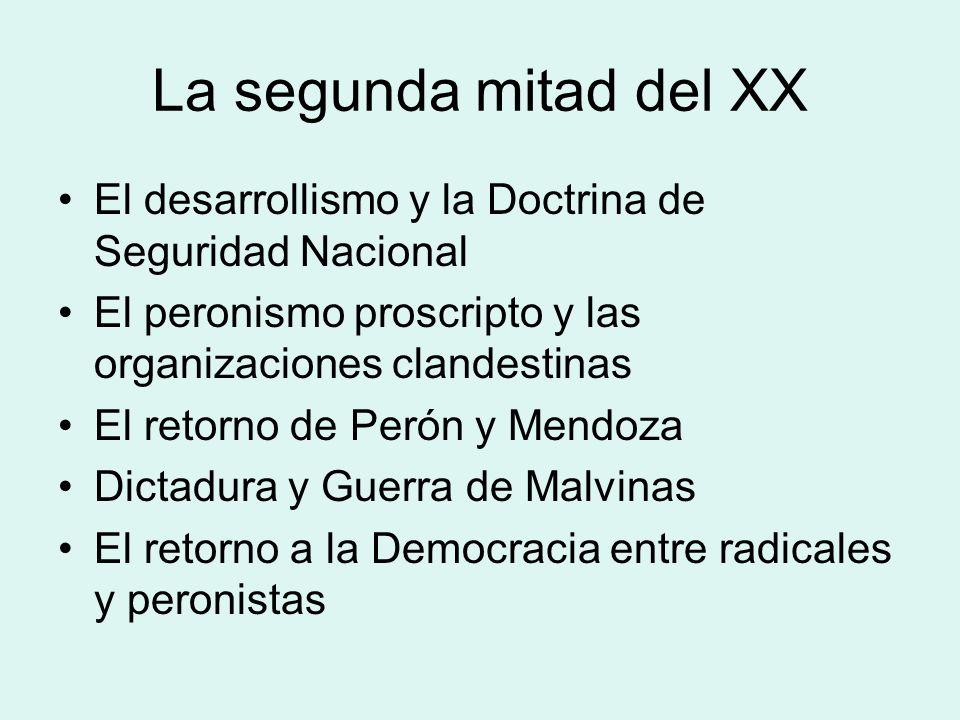 Mendoza y el siglo XX El Lencinismo: el Gaucho y el Gauchito Lencinas. La década infame El peronismo mendocino: –La Unión Cívica Radical Junta Renovad