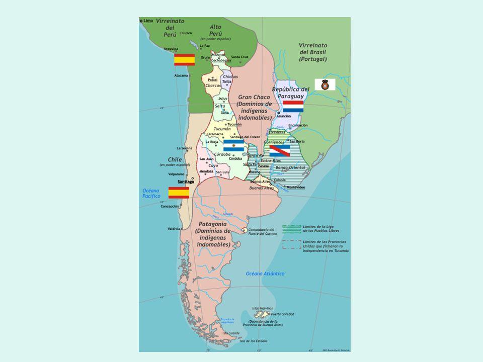 Cuyo y el Río de la Plata La economía mendocina es competitiva de la chilena y complementaria de la platense: Mendoza produce y exporta hacia el este: trigo, frutas secas, caldos vínicos, etc.
