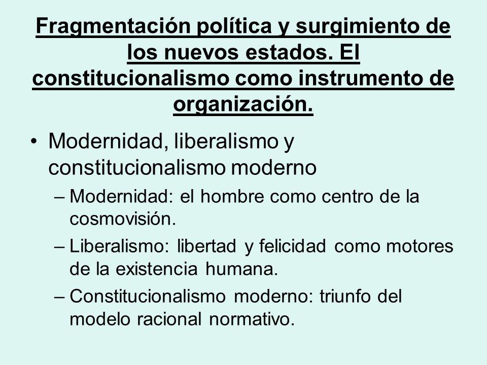 Fragmentación política y surgimiento de los nuevos estados.