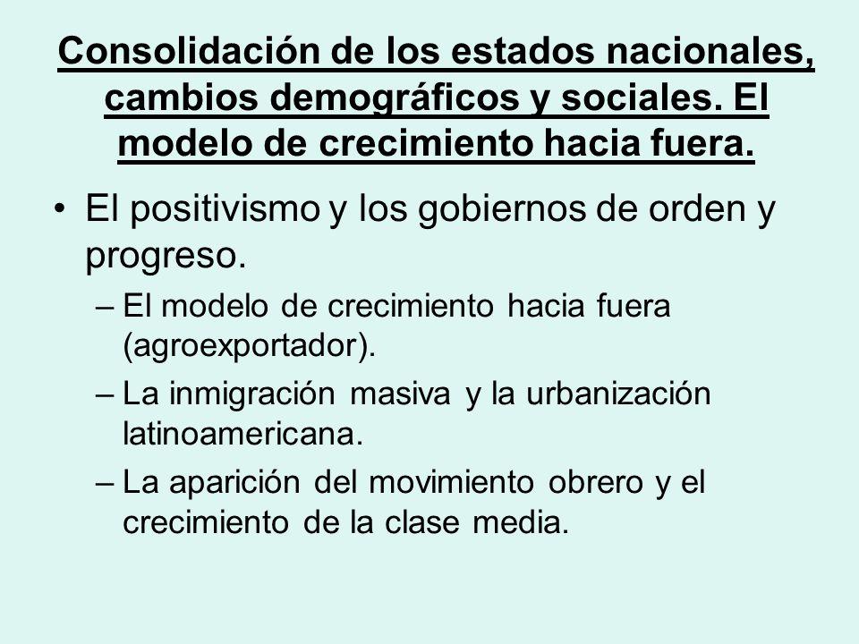 Consolidación de los estados nacionales, cambios demográficos y sociales.