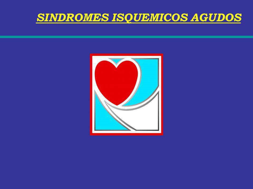 SINDROMES ISQUEMICOS AGUDOS