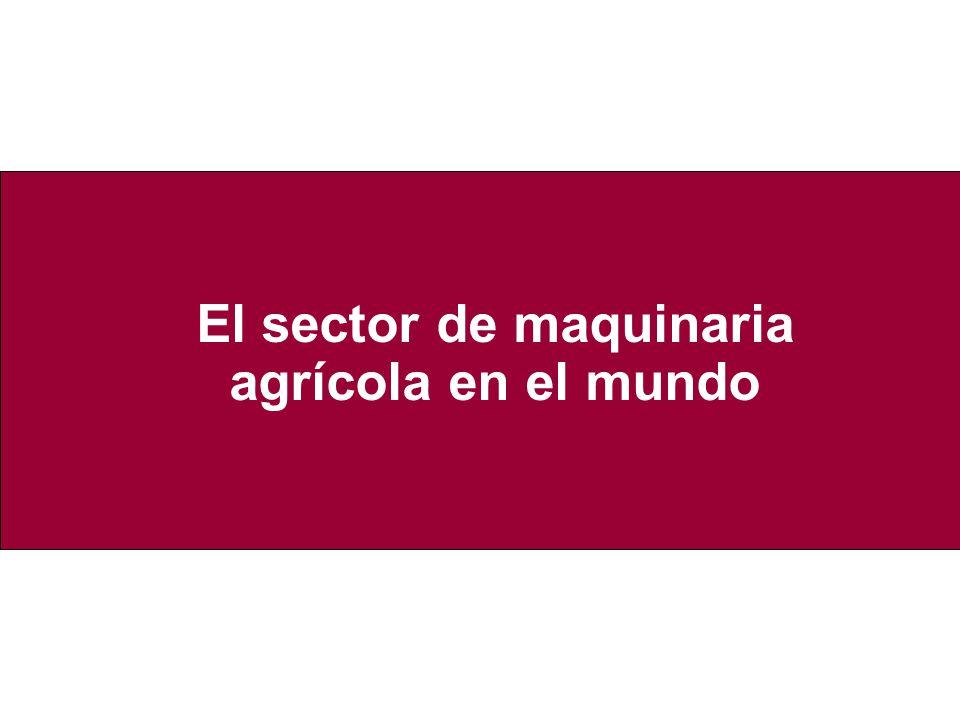 El sector de maquinaria agrícola en el mundo