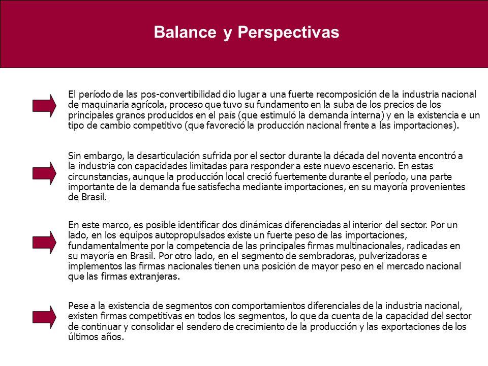 En este marco, es posible identificar dos dinámicas diferenciadas al interior del sector. Por un lado, en los equipos autopropulsados existe un fuerte