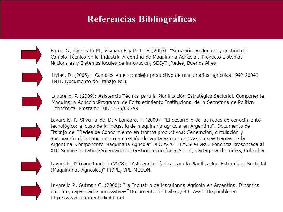 Referencias Bibliográficas Lavarello, P. (coordinador) (2008):