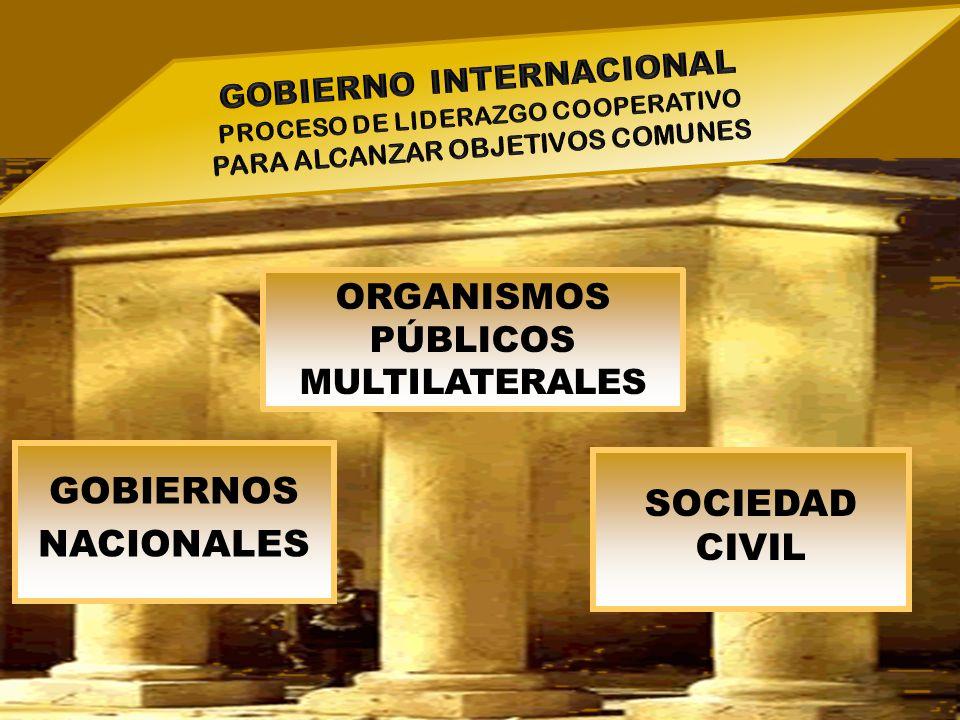 GOBIERNOS NACIONALES ORGANISMOS PÚBLICOS MULTILATERALES SOCIEDAD CIVIL