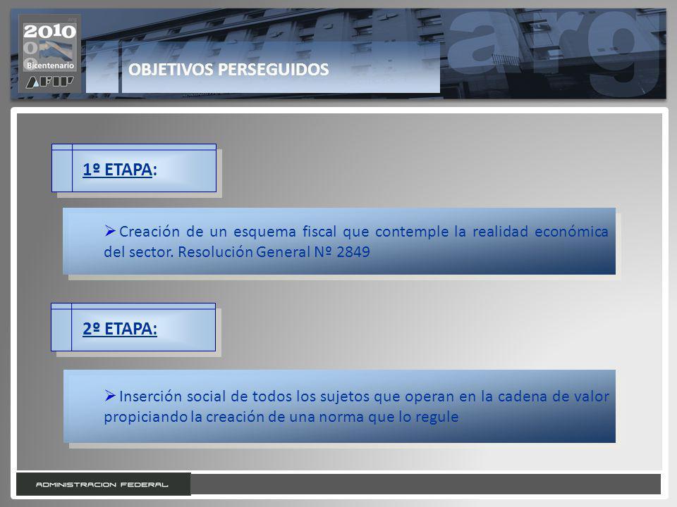 5 1º ETAPA: Creación de un esquema fiscal que contemple la realidad económica del sector. Resolución General Nº 2849 2º ETAPA: Inserción social de tod