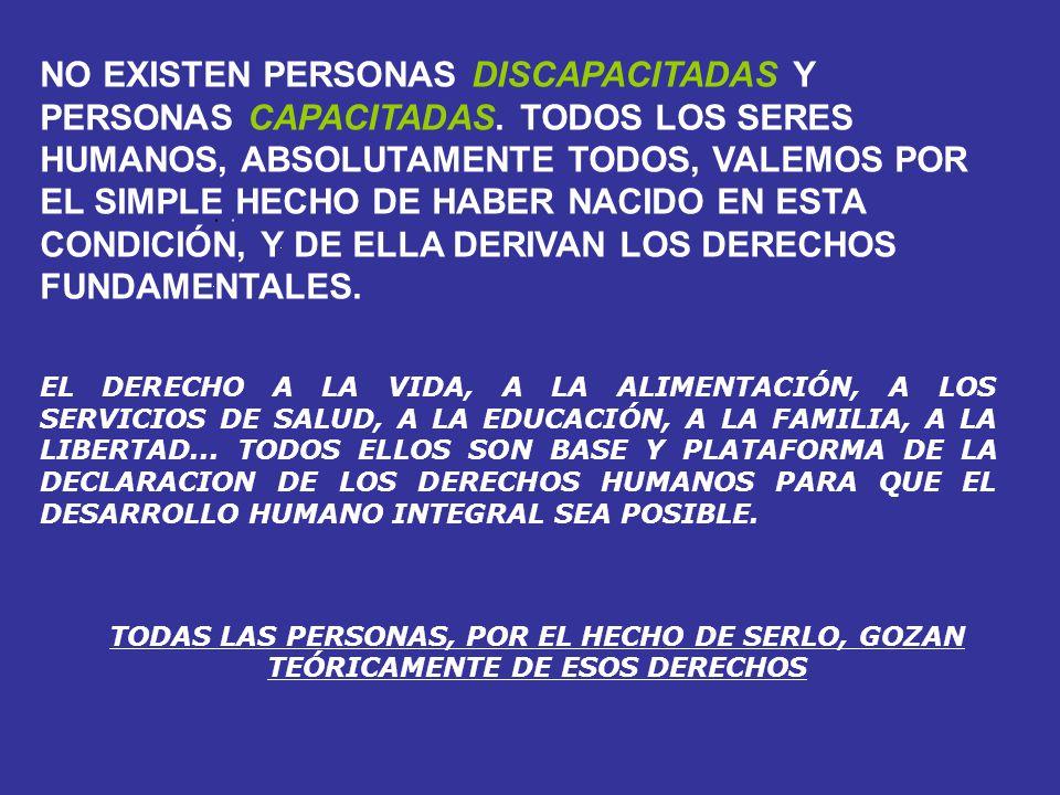 EL DERECHO A LA VIDA, A LA ALIMENTACIÓN, A LOS SERVICIOS DE SALUD, A LA EDUCACIÓN, A LA FAMILIA, A LA LIBERTAD... TODOS ELLOS SON BASE Y PLATAFORMA DE