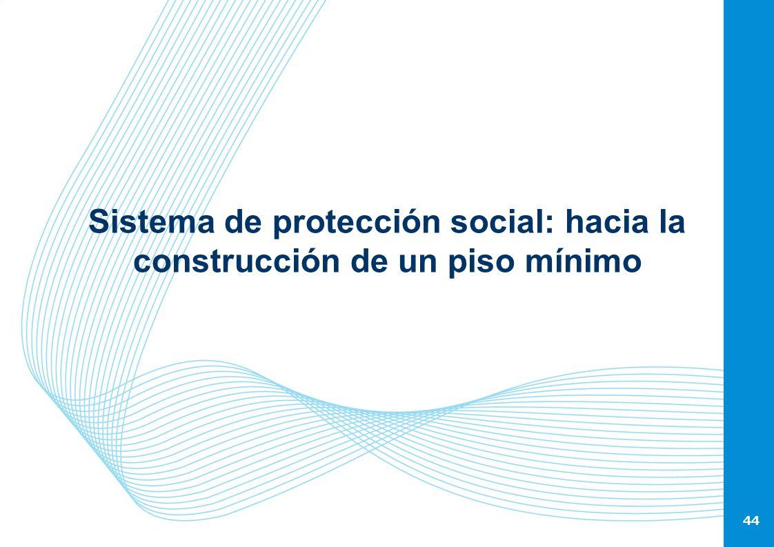 44 Sistema de protección social: hacia la construcción de un piso mínimo 44