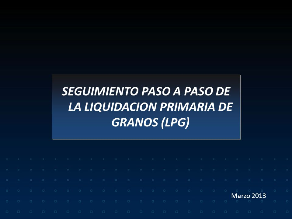 LIQUIDACION PRIMARIA DE GRANOS. RG 3419/12 LIQUIDACION PRIMARIA DE GRANOS. RG 3419/12.