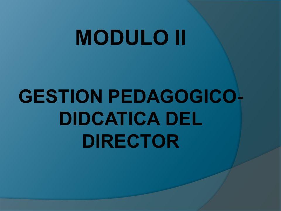 MODULO II GESTION PEDAGOGICO- DIDCATICA DEL DIRECTOR