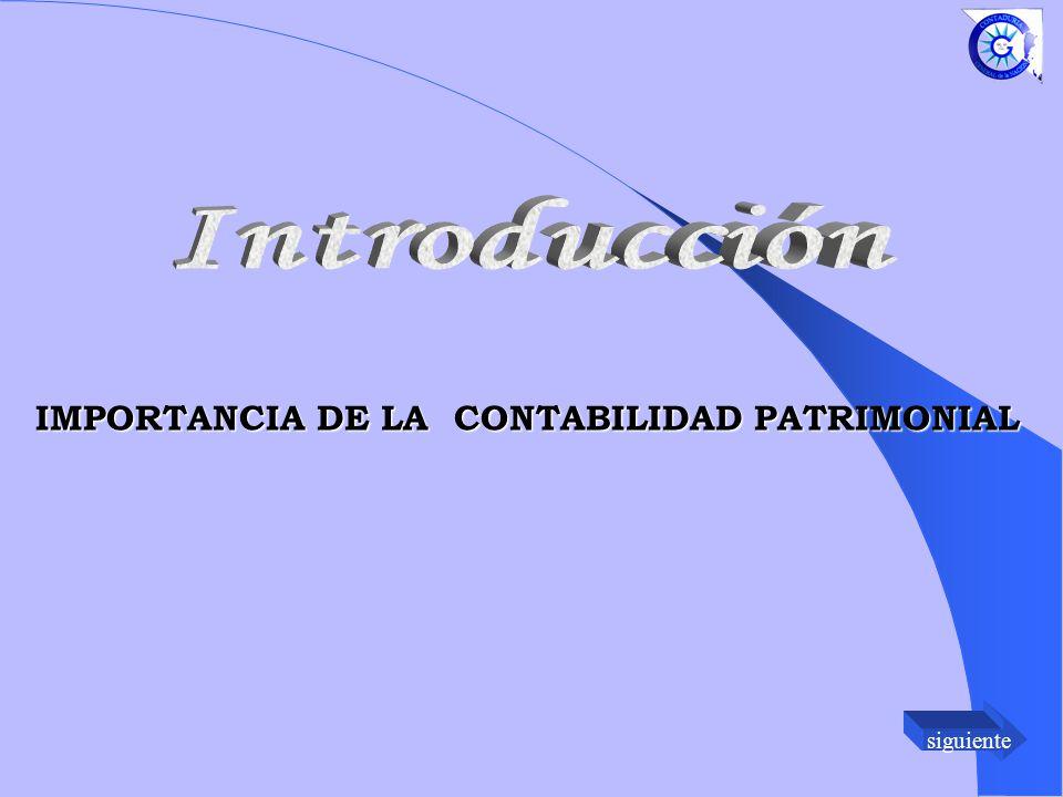 siguiente IMPORTANCIA DE LA CONTABILIDAD PATRIMONIAL