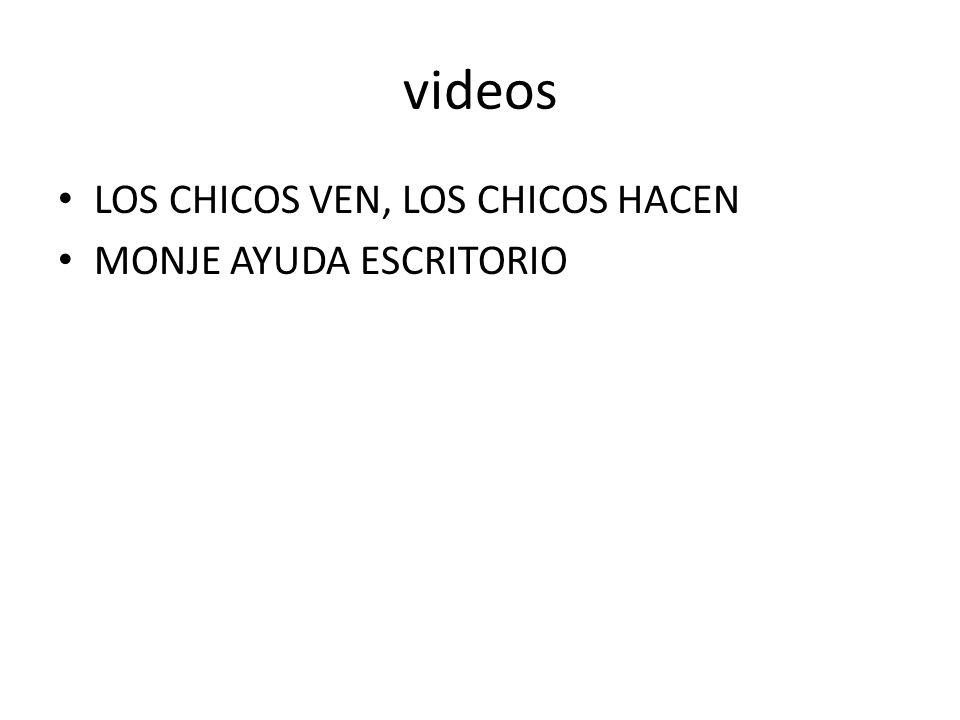 videos LOS CHICOS VEN, LOS CHICOS HACEN MONJE AYUDA ESCRITORIO