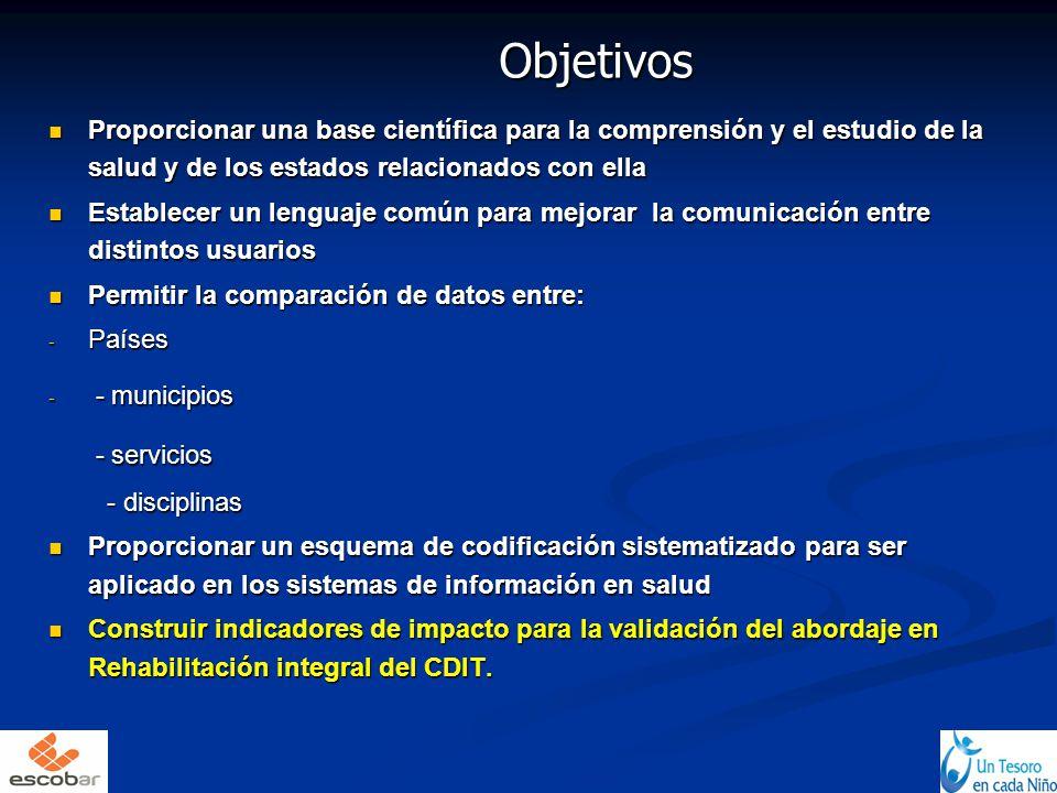 Objetivos Proporcionar una base científica para la comprensión y el estudio de la salud y de los estados relacionados con ella Proporcionar una base c