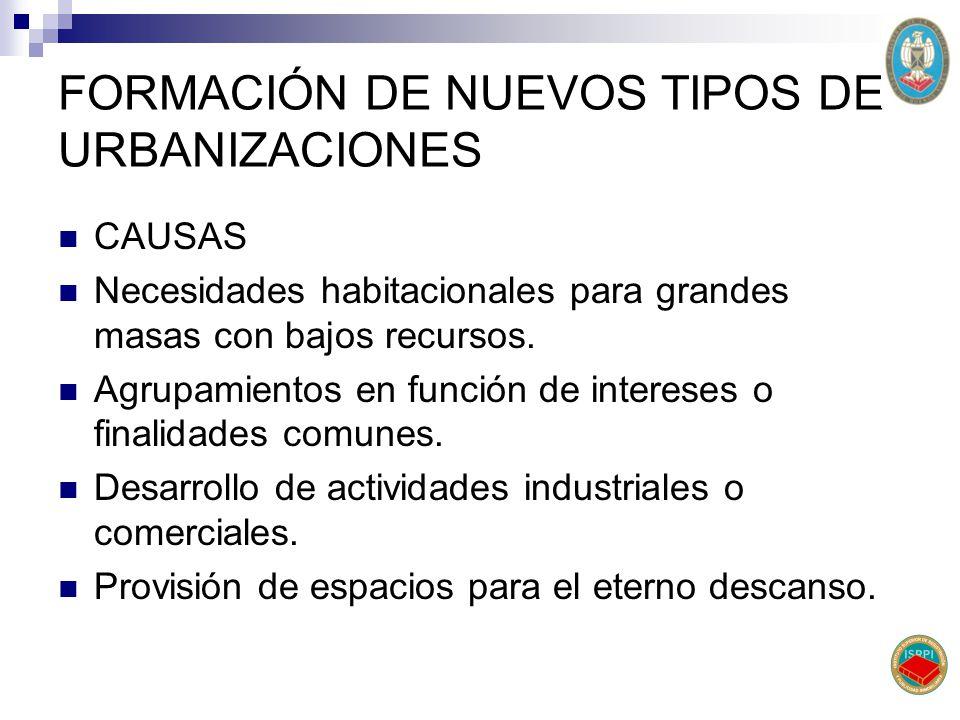 Variedad de tipologías La inserción en diferentes zonas del municipio (urbanas, semiurbanas y rurales).