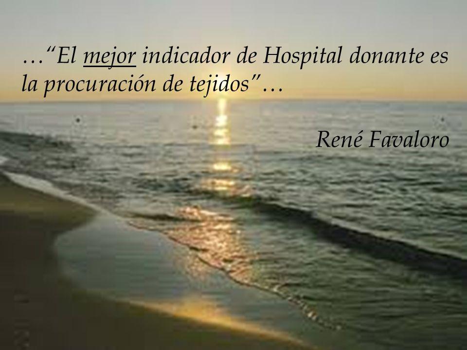 …El mejor indicador de Hospital donante es la procuración de tejidos… René Favaloro